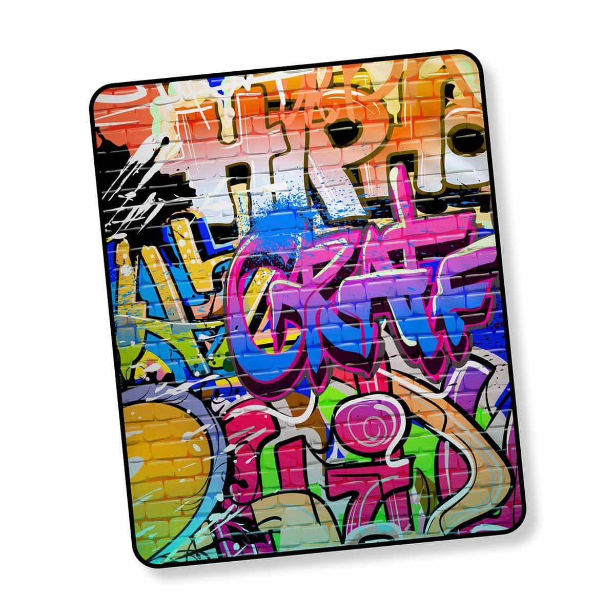 Good Morning Fleecedecke Wendeplaid Graffity