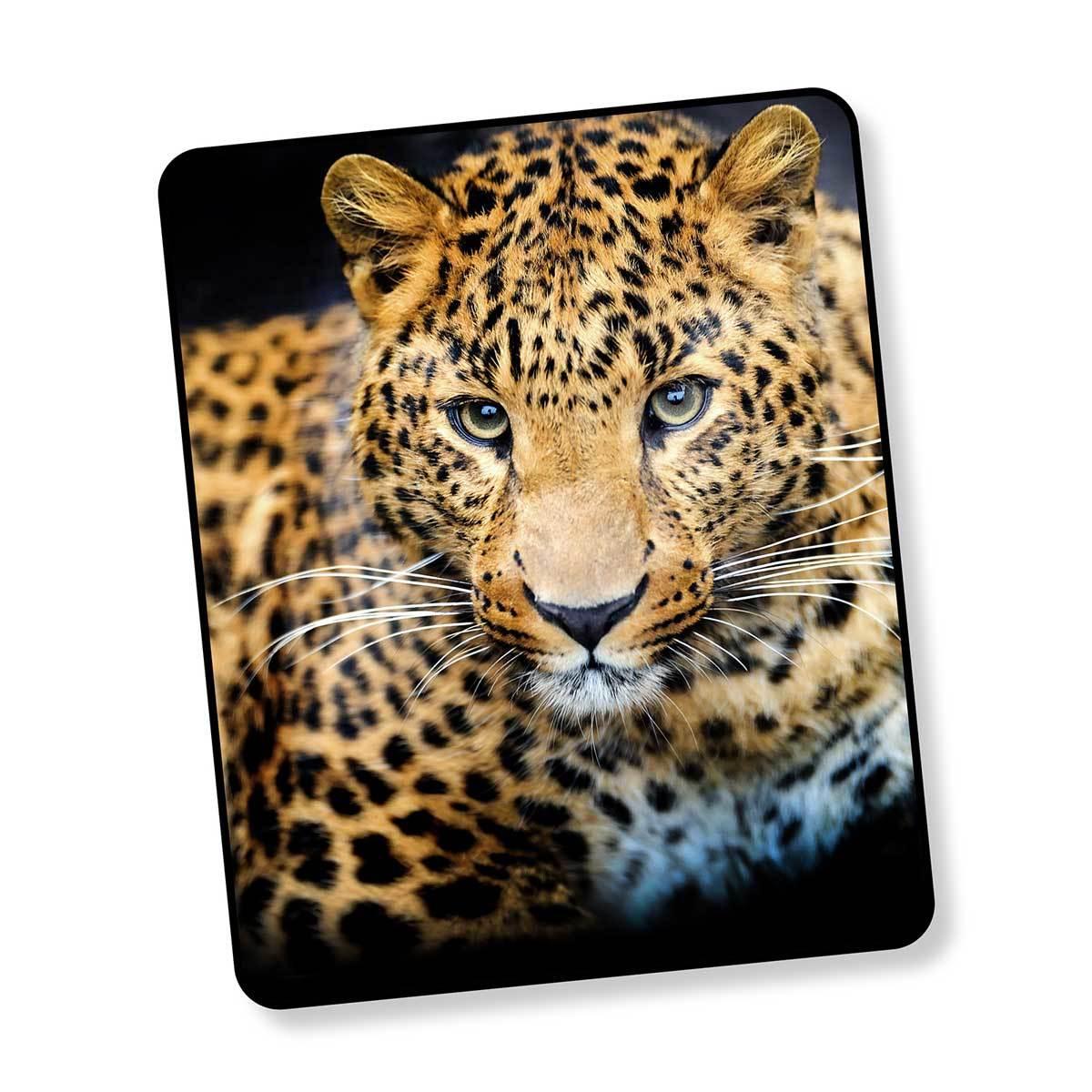 Good Morning Fleecedecke Wendeplaid Leopard