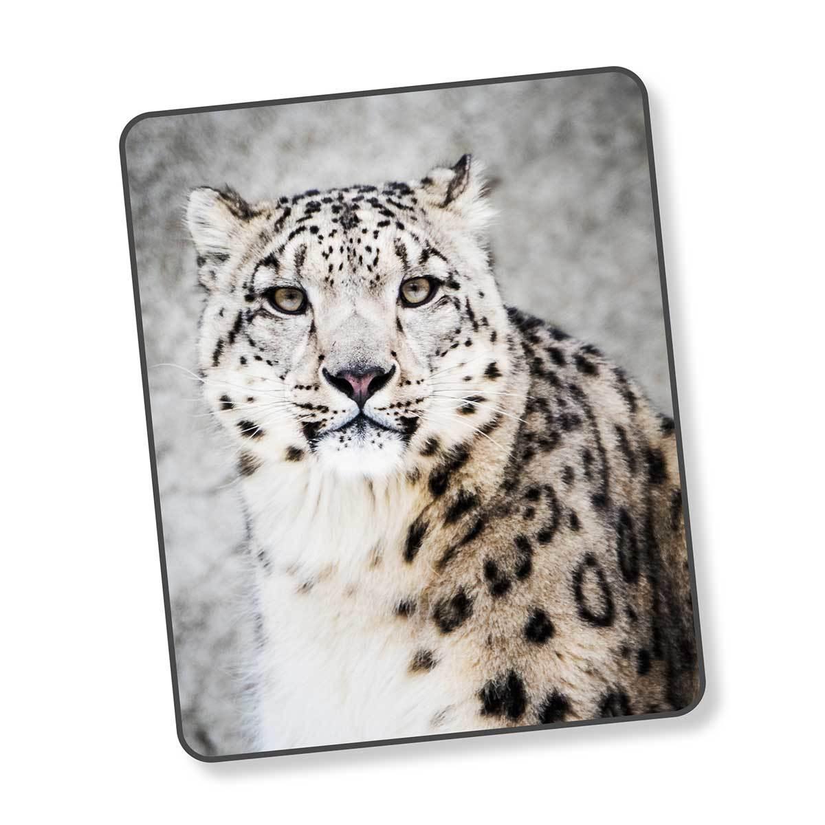 Good Morning Fleecedecke Wendeplaid Snow Leopard