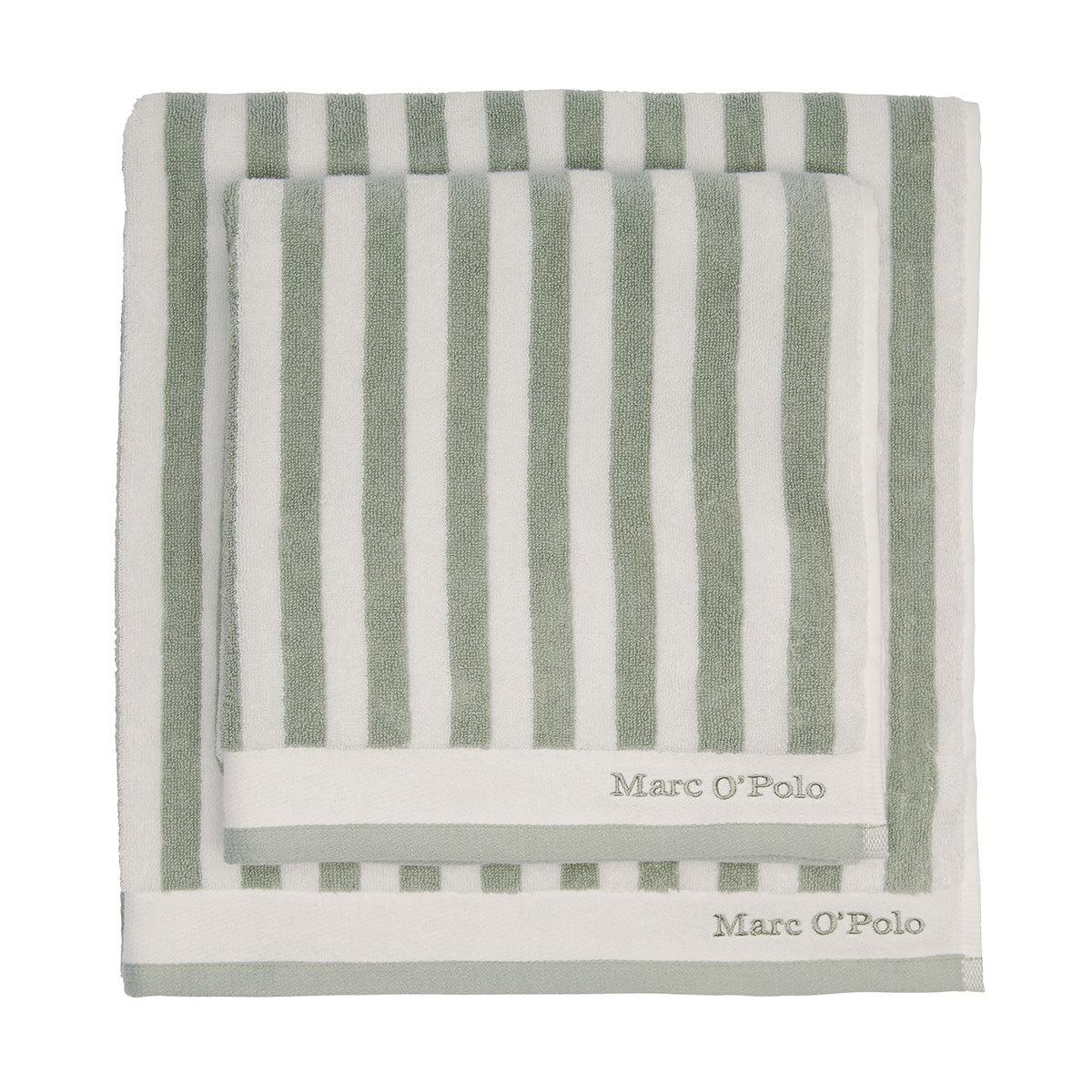 Marc O Polo Frottierserie Classic Stripe green/off white