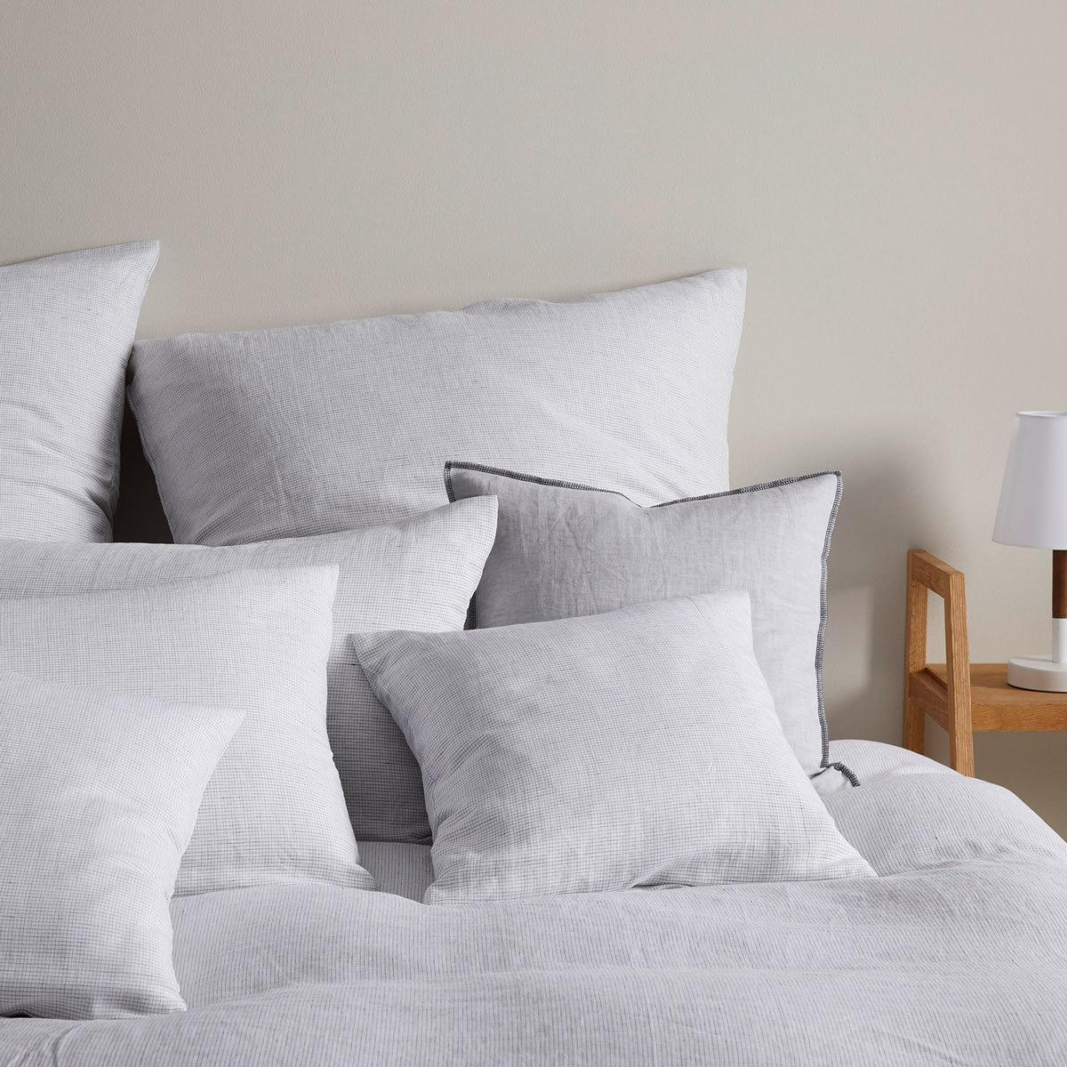 Elegante Halbleinen Bettwäsche Cool Grau Günstig Online Kaufen Bei