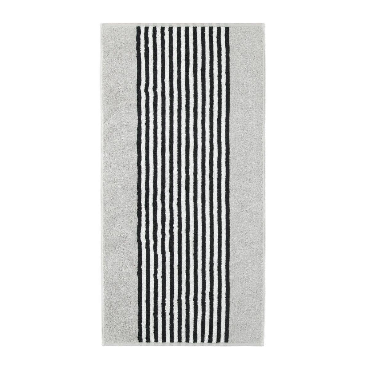 Cawö Handtücher Black and White Streifen