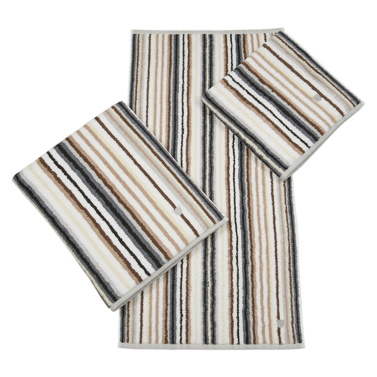 Ross Handtücher Multicolor-Streifen anthrazit