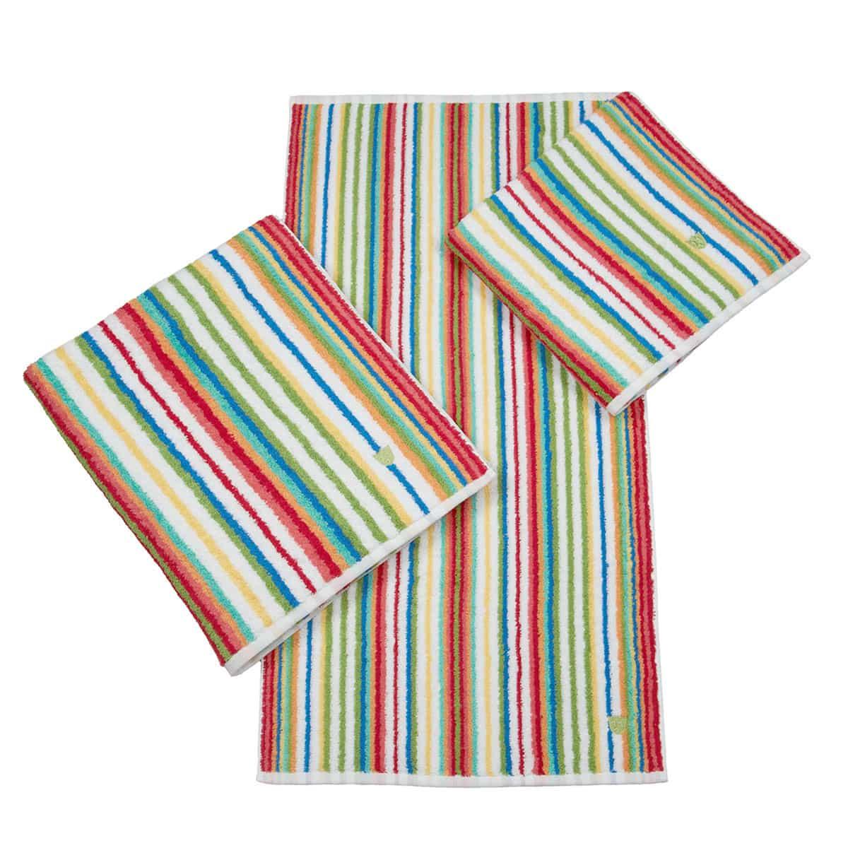 Ross Handtücher Multicolor-Streifen rot