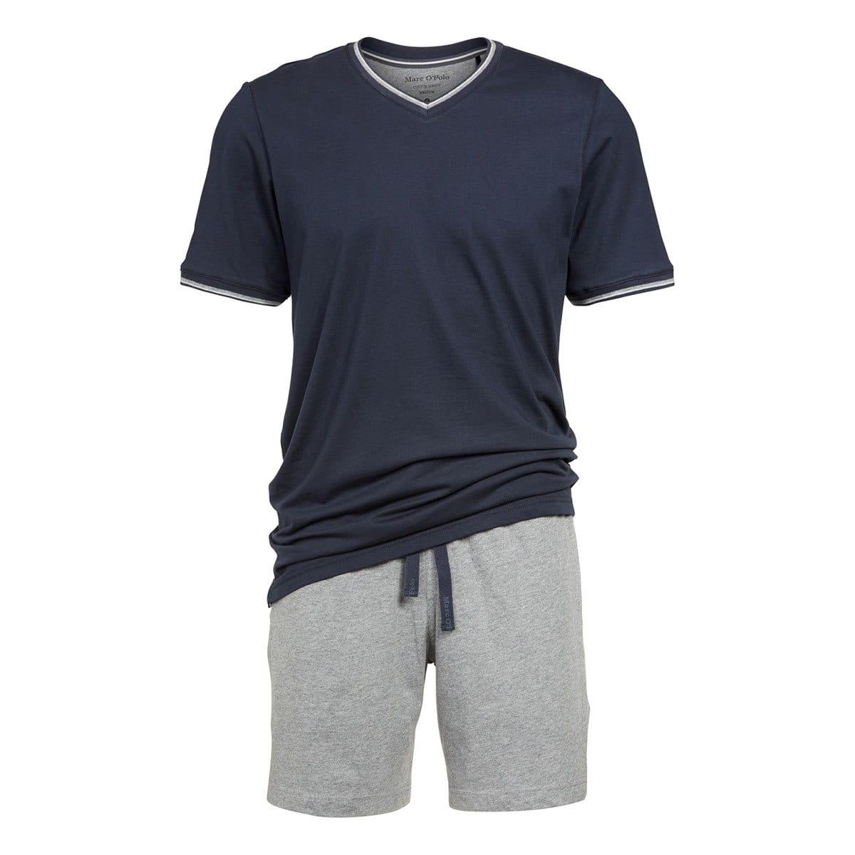 Marc O Polo Herren Pyjama mit V-Ausschnitt