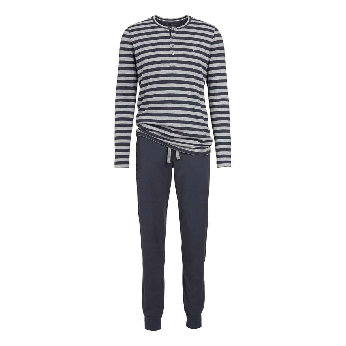 12999f84e70d Marc O Polo Herren Schlafanzug Pyjama grey-melange