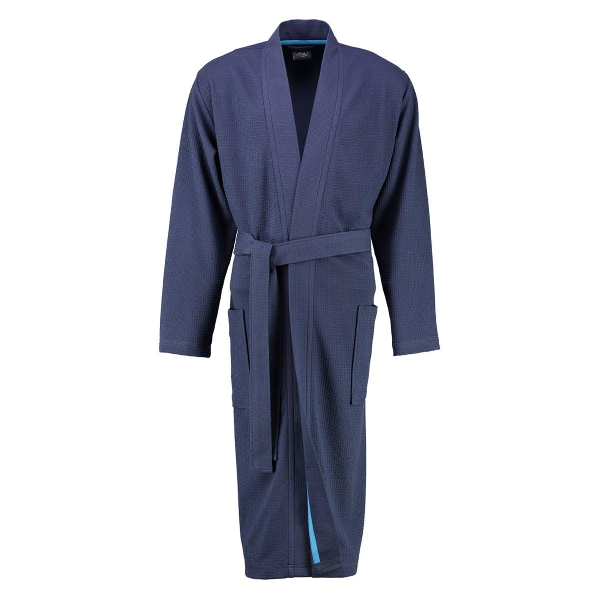 Cawö Herren Waffelpiqué Kimono extraleicht 816 marine
