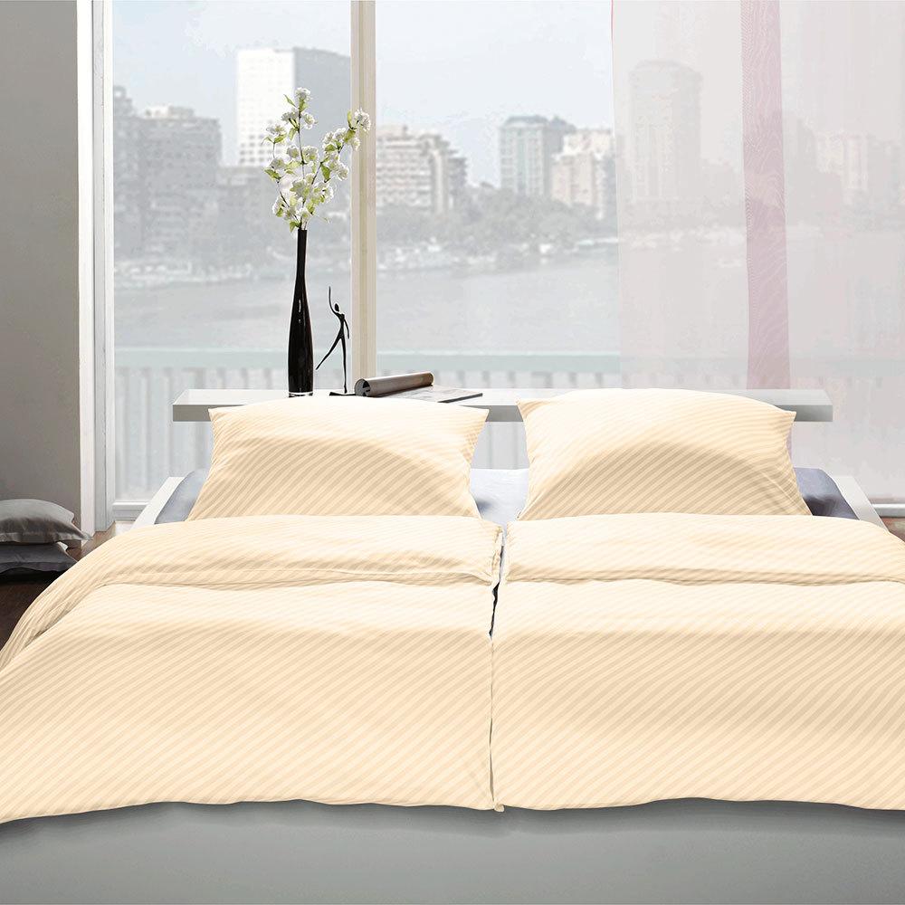 bettwarenshop hotelbettw sche jacquard damast diagonalstreifen gelb g nstig online kaufen bei. Black Bedroom Furniture Sets. Home Design Ideas