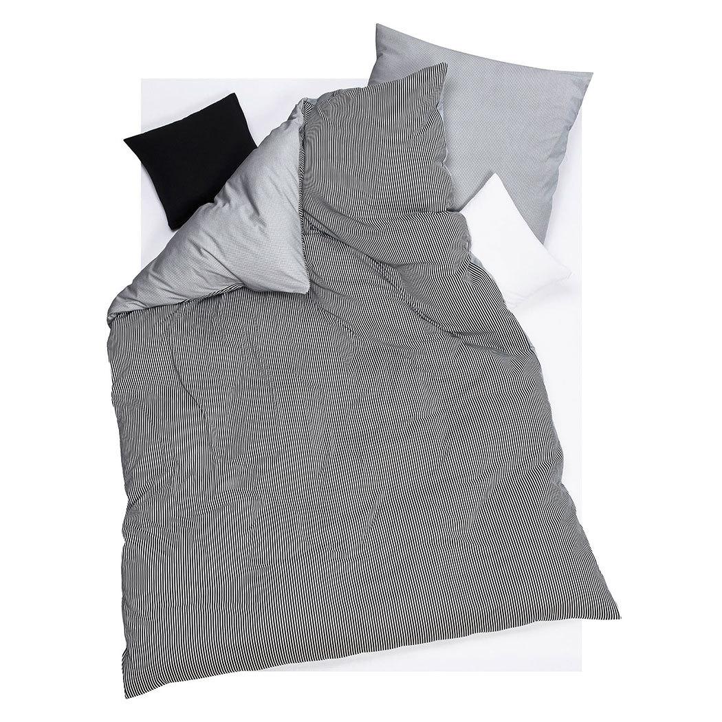 doris meyer interlock jersey wendebettw sche raffi schwarz g nstig online kaufen bei bettwaren shop. Black Bedroom Furniture Sets. Home Design Ideas