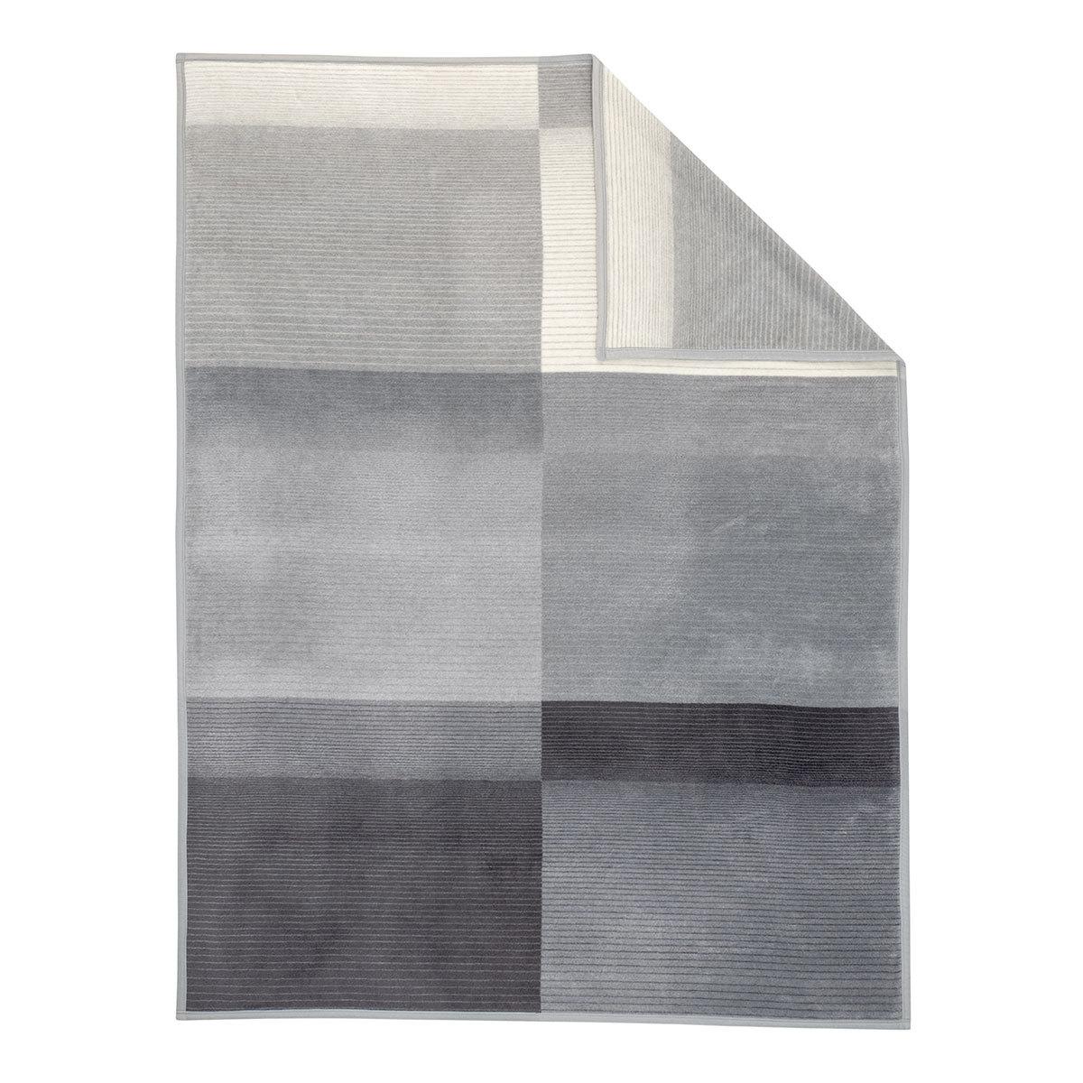 Ibena Jacquard Decke Granada grau