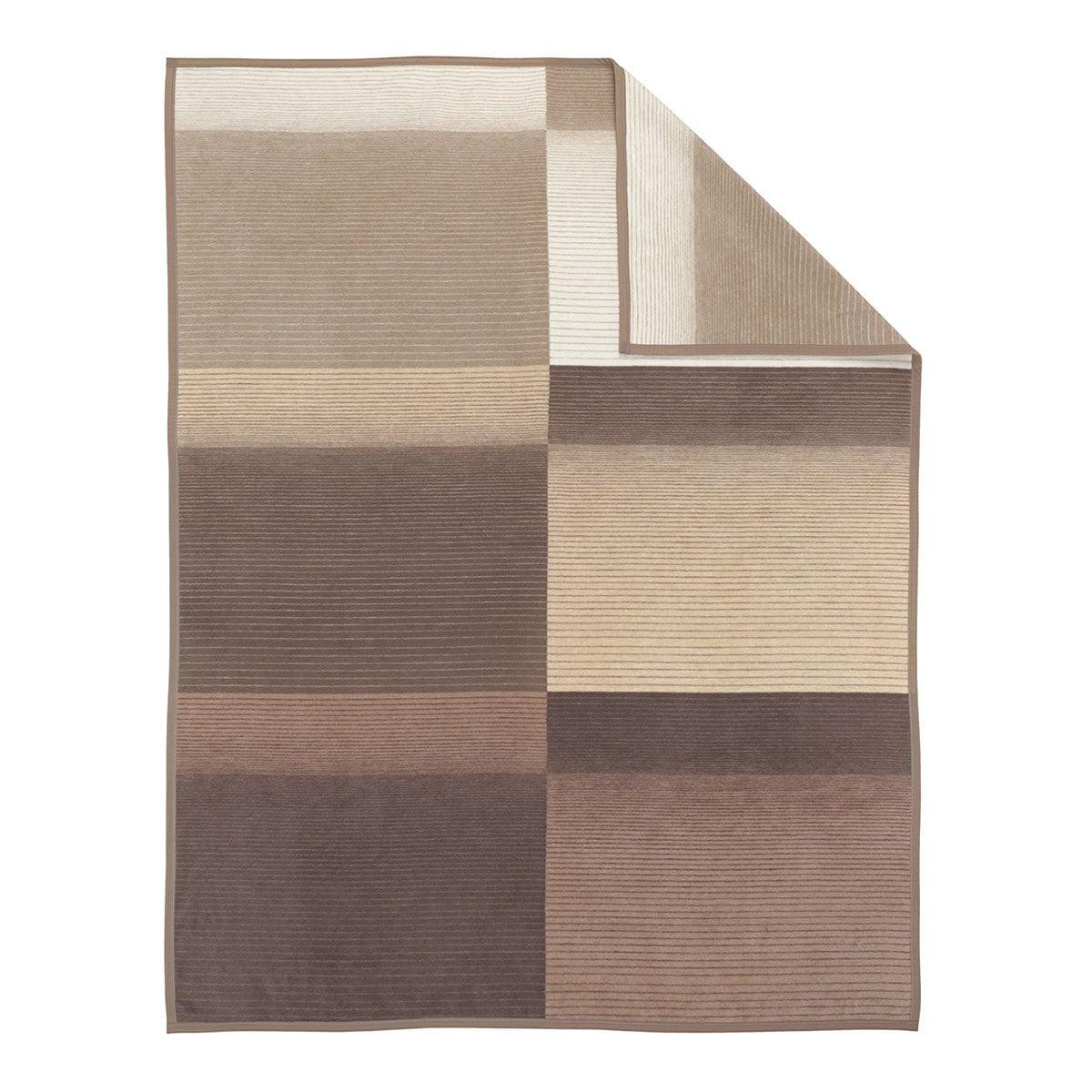 ibena jacquard decke granada hellbraun g nstig online. Black Bedroom Furniture Sets. Home Design Ideas