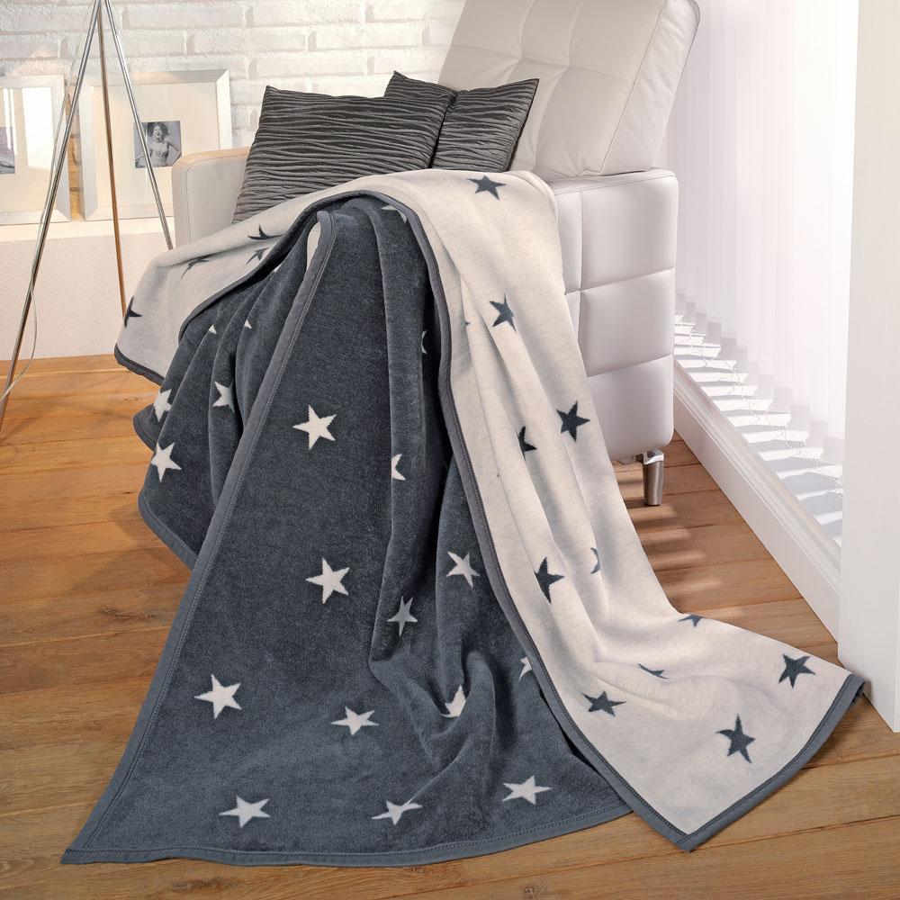 ibena jacquard decke messina 3218 800 anthrazit wollweiss. Black Bedroom Furniture Sets. Home Design Ideas
