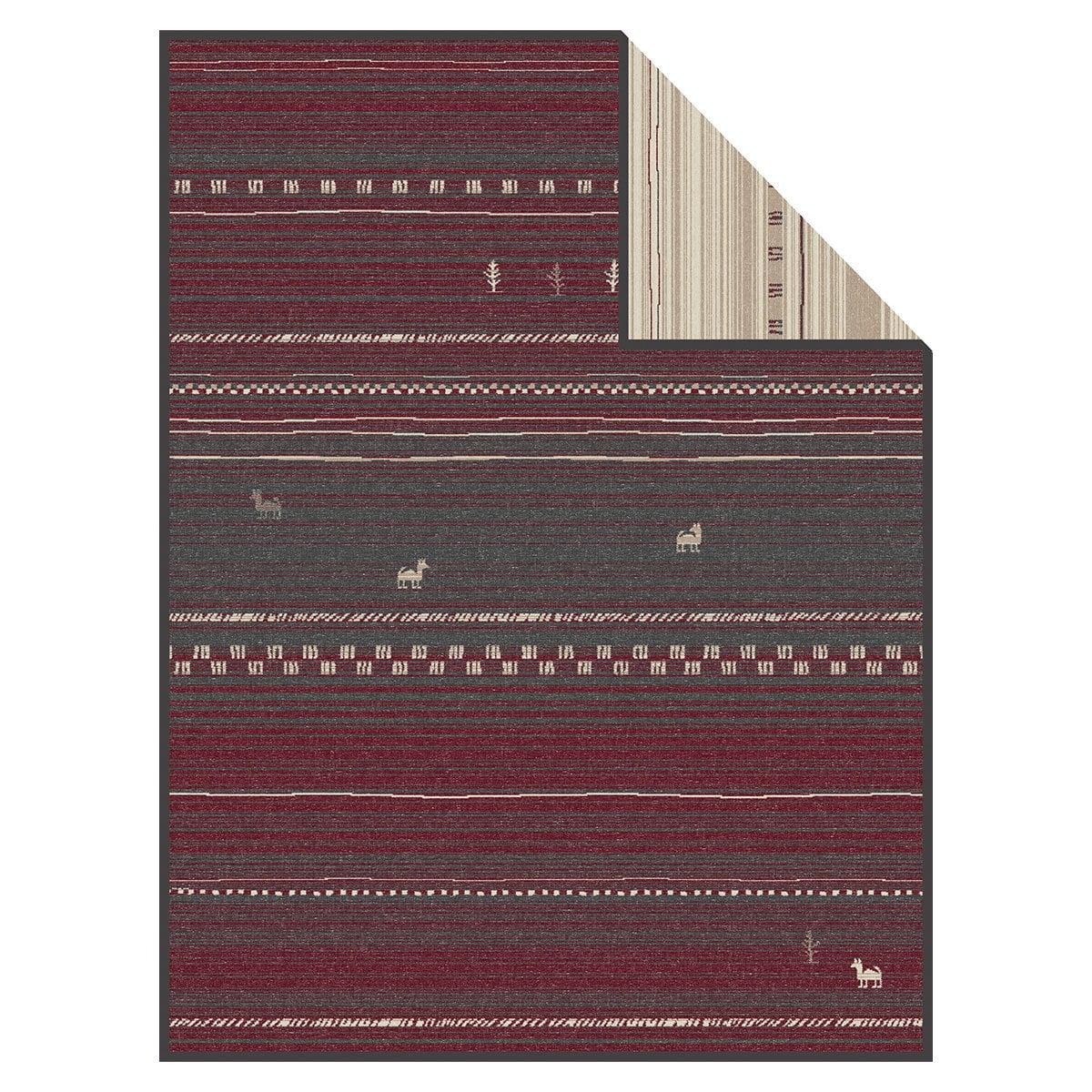 ibena jacquard wohndecke banha grau rot g nstig online kaufen bei bettwaren shop. Black Bedroom Furniture Sets. Home Design Ideas