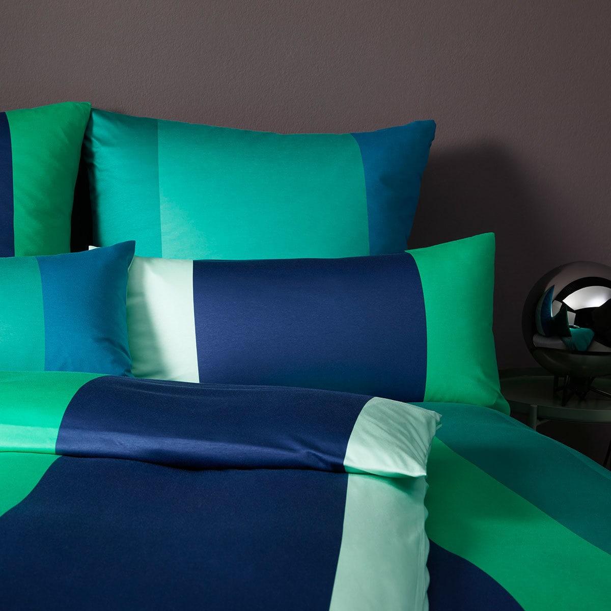 elegante Jersey Bettwäsche Bold petrol-grün