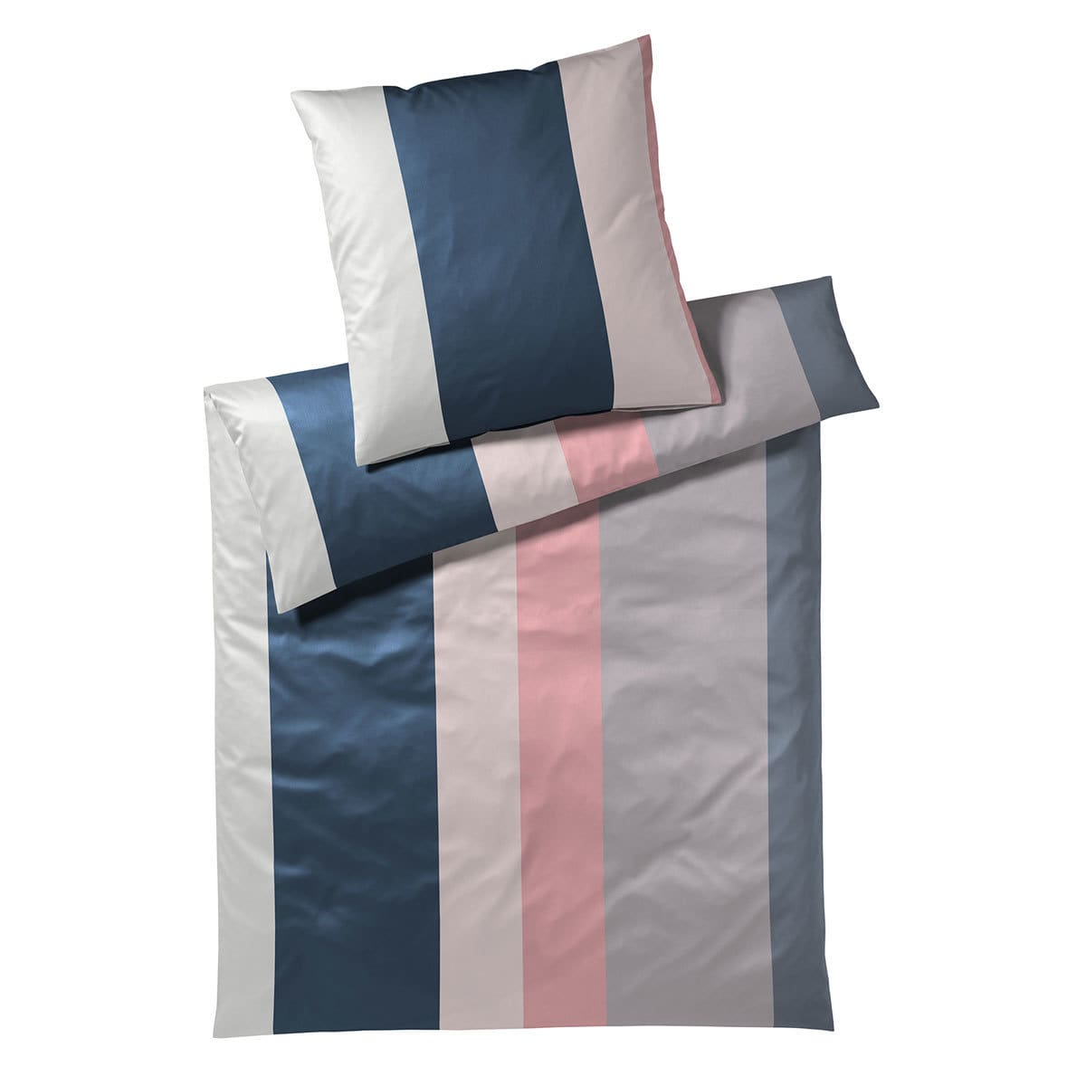 elegante Jersey Bettwäsche Bold rose-blau