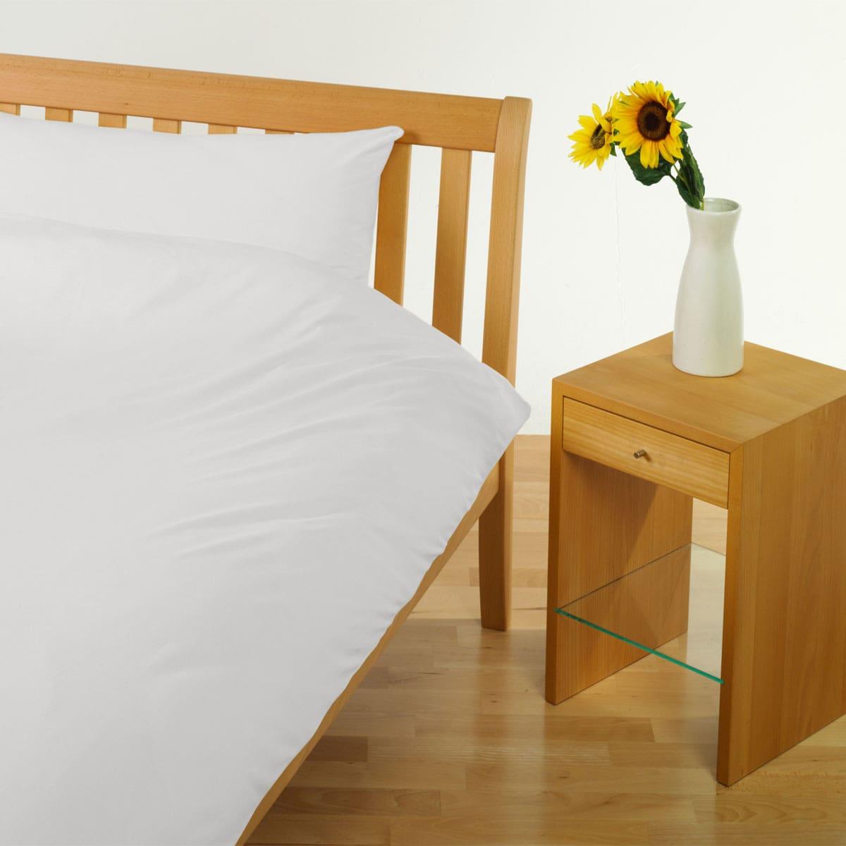 Cotonea Jersey Uni Bettwäsche weiß