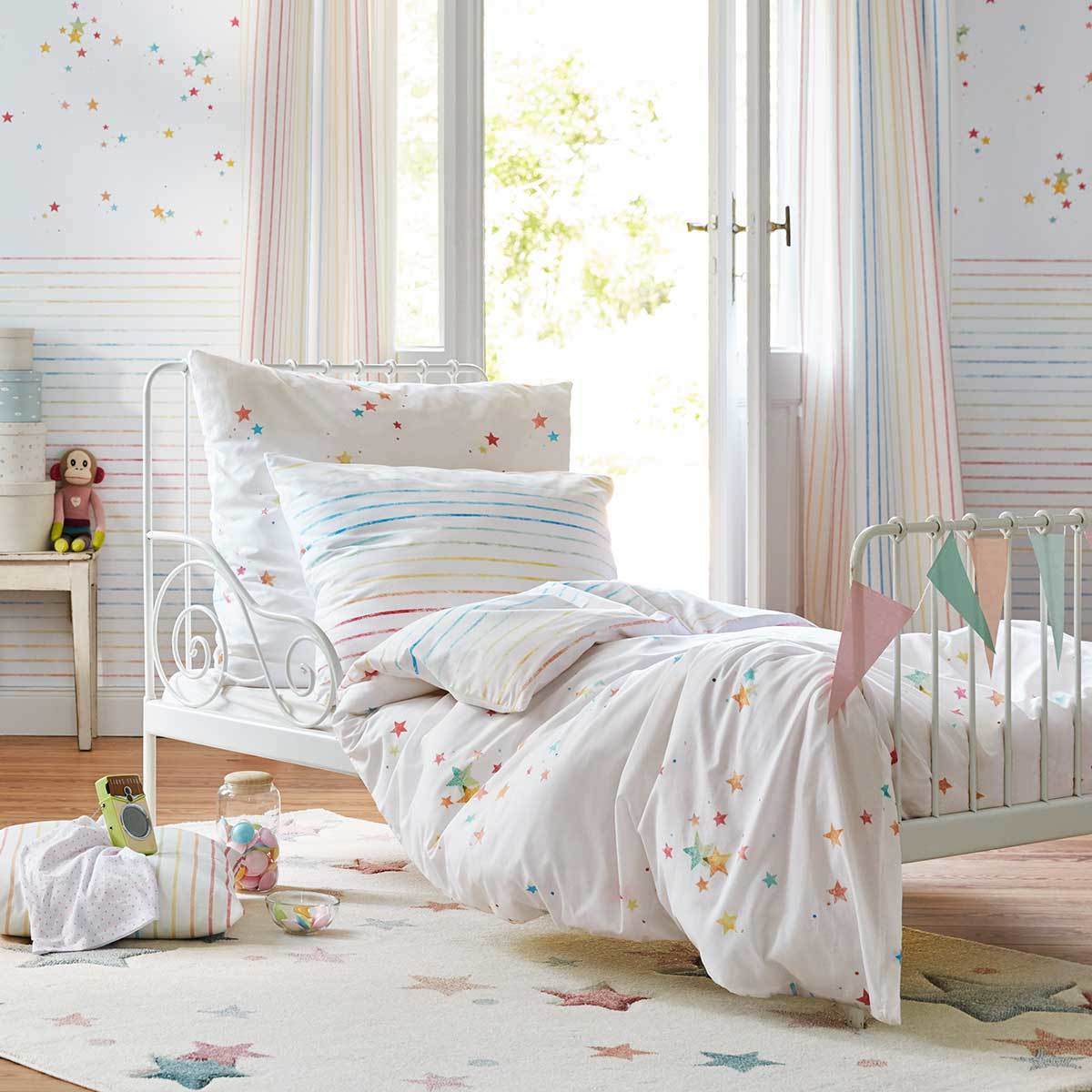 esprit kinderbettw sche happy stars g nstig online kaufen bei bettwaren shop. Black Bedroom Furniture Sets. Home Design Ideas