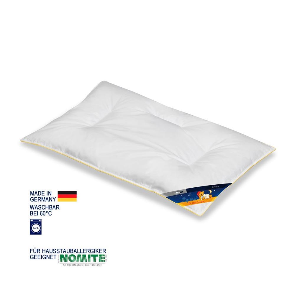 Schlafstil Kinderflachkissen Spessi Exclusiv | Kinderzimmer > Textilien für Kinder > Kinderkissen | Federn - Baumwolle | Schlafstil