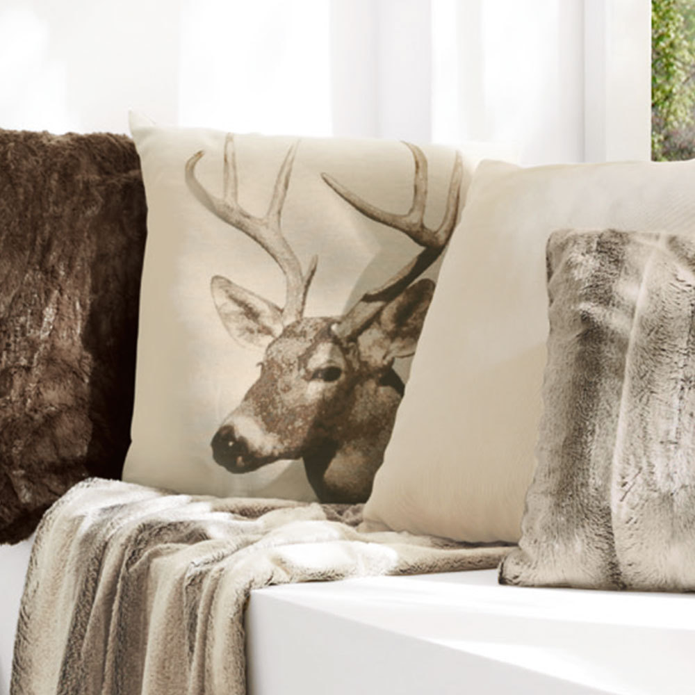 sun garden kissenh lle hirsch natur braun g nstig online kaufen bei bettwaren shop. Black Bedroom Furniture Sets. Home Design Ideas