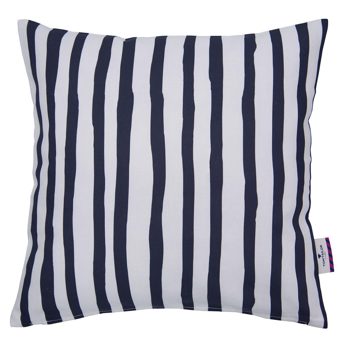 Tom Tailor Kissenhülle Maritime Stripes blau/weiß