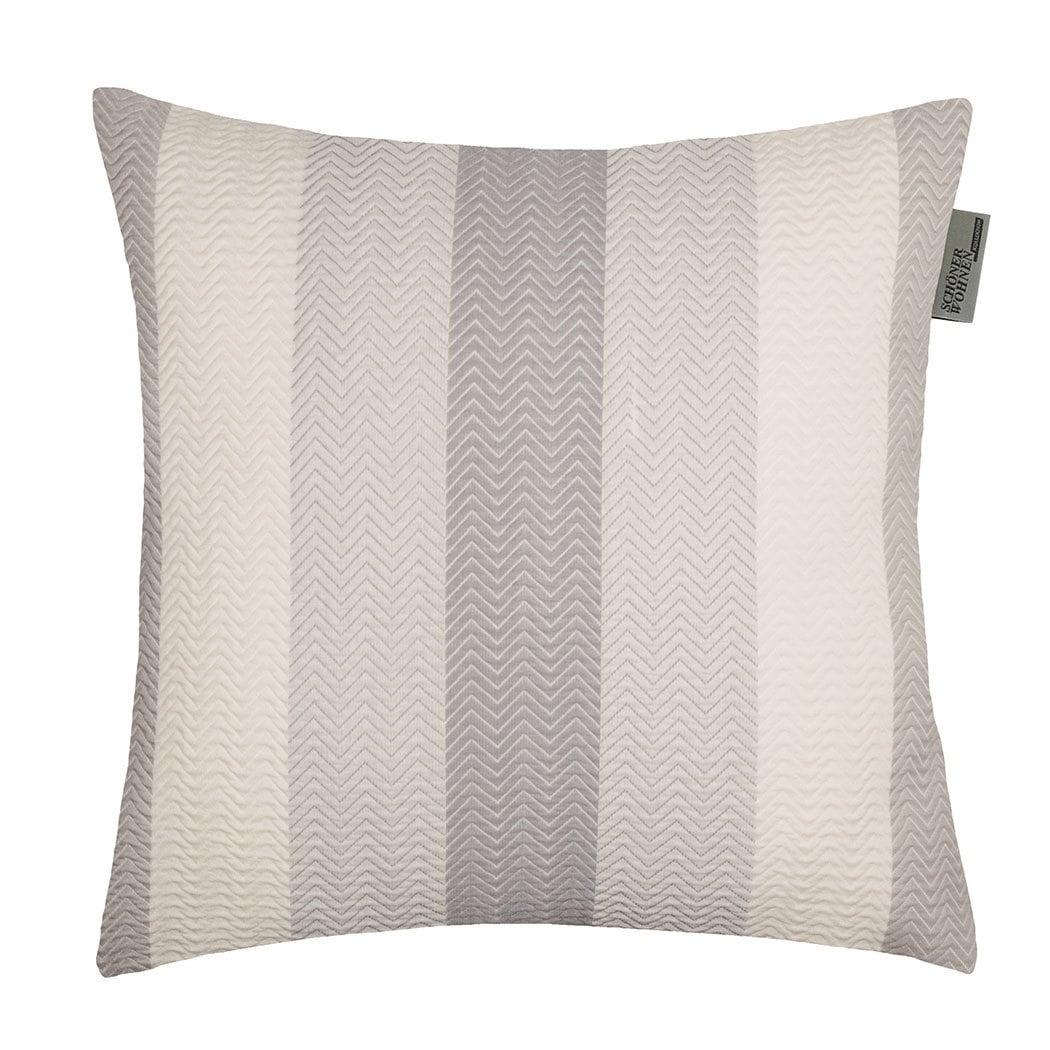 sch ner wohnen kissenh lle zigzag grau g nstig online kaufen bei bettwaren shop. Black Bedroom Furniture Sets. Home Design Ideas