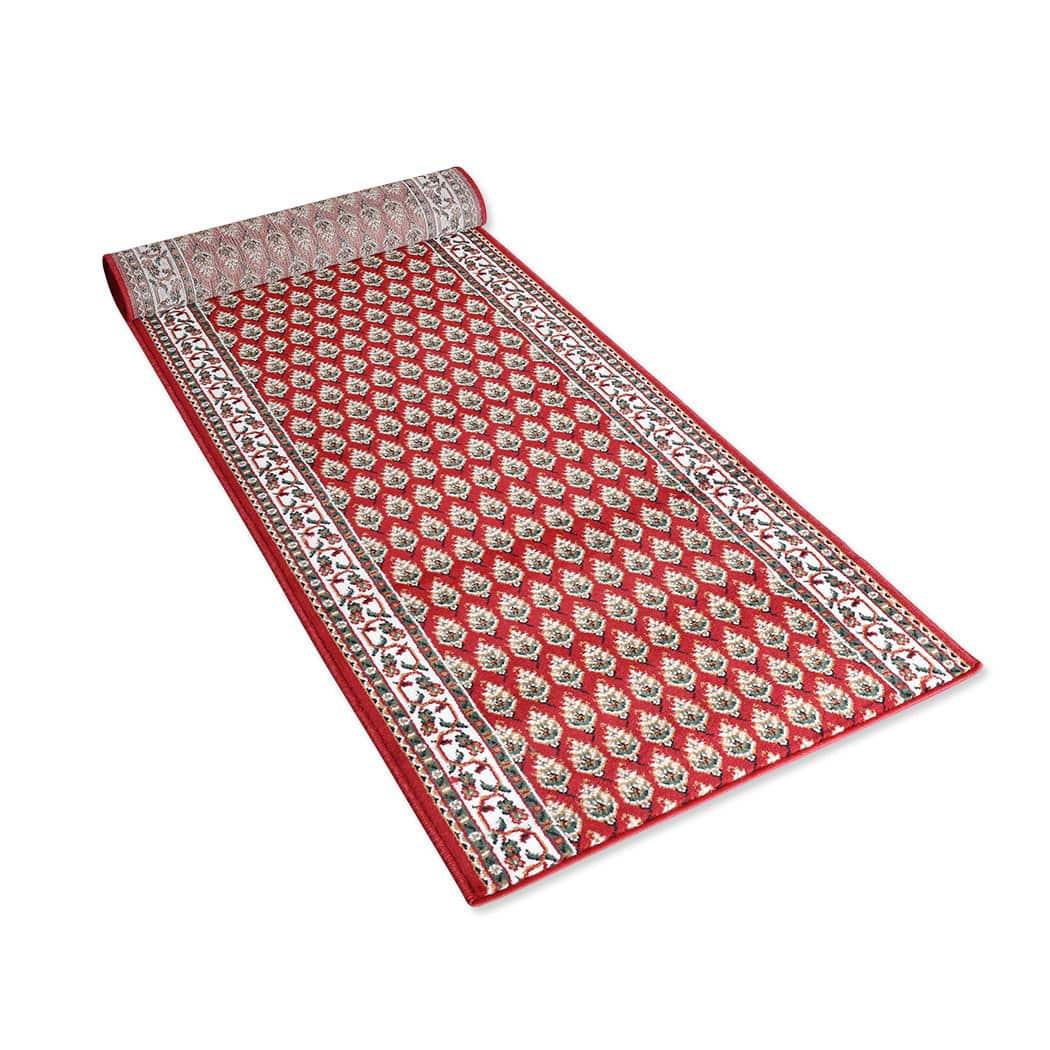 bettwarenshop l ufer shiraz 2080 rot meterware g nstig online kaufen bei bettwaren shop. Black Bedroom Furniture Sets. Home Design Ideas