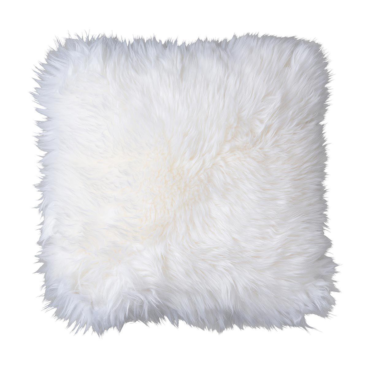 fellhof lammfell kissenbezug langwollig weiss g nstig online kaufen bei bettwaren shop. Black Bedroom Furniture Sets. Home Design Ideas