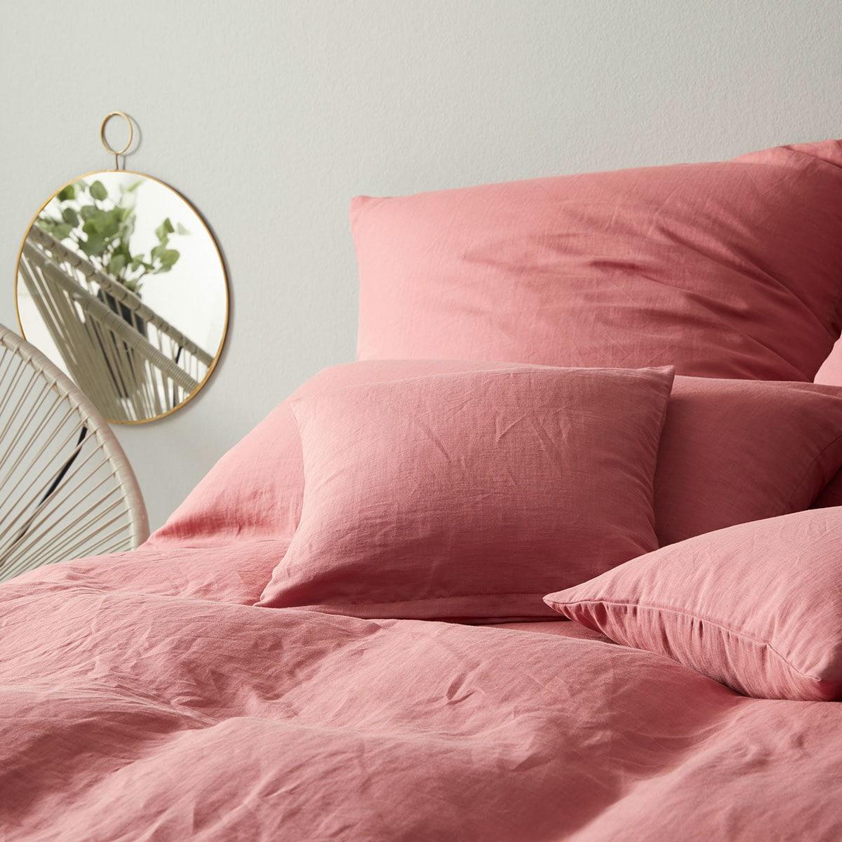 Elegante Leinen Bettwäsche Breeze Ziegel Günstig Online Kaufen Bei