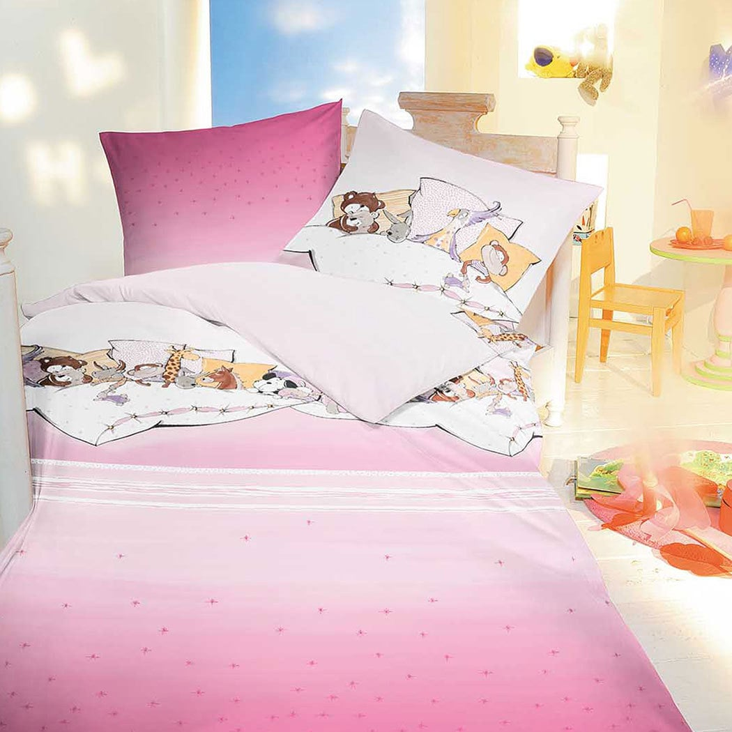 kaeppel linon bettw sche pyjamaparty rosa g nstig online kaufen bei bettwaren shop. Black Bedroom Furniture Sets. Home Design Ideas