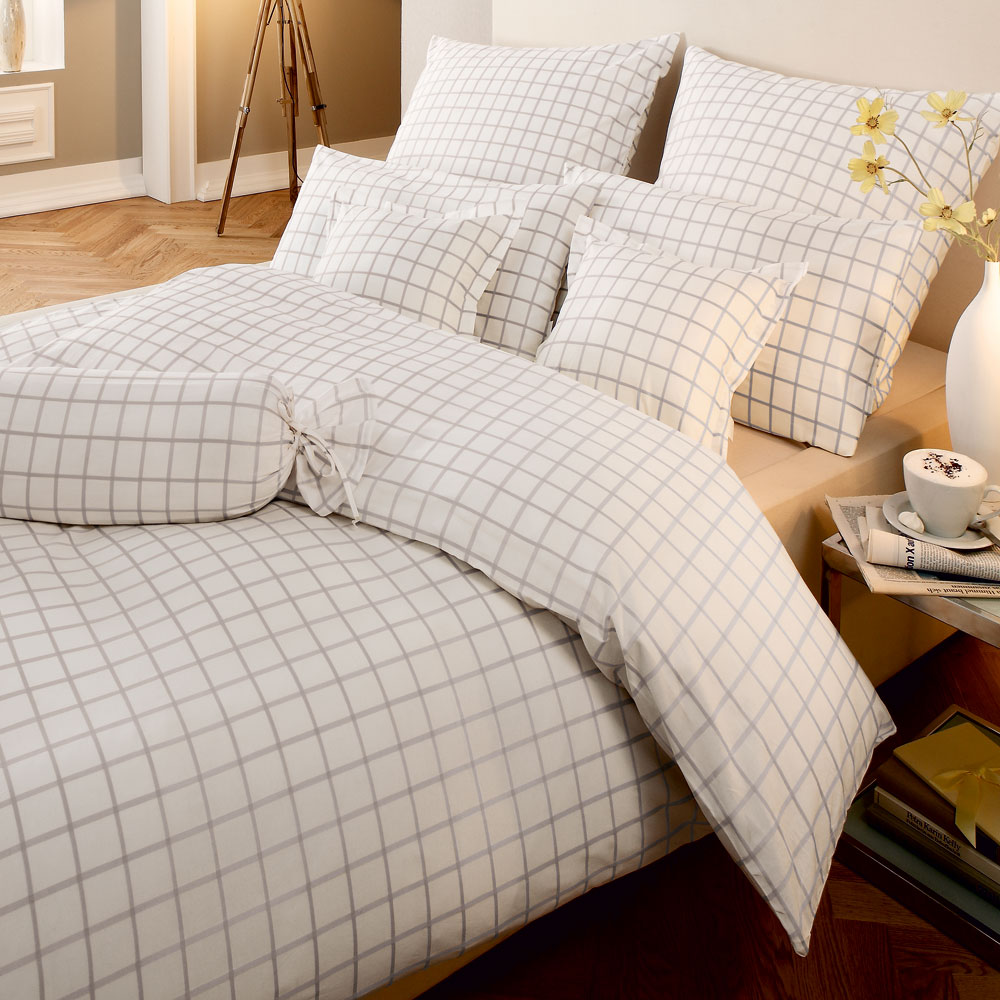 fleuresse mako batist bettw sche heidelberg wei g nstig. Black Bedroom Furniture Sets. Home Design Ideas