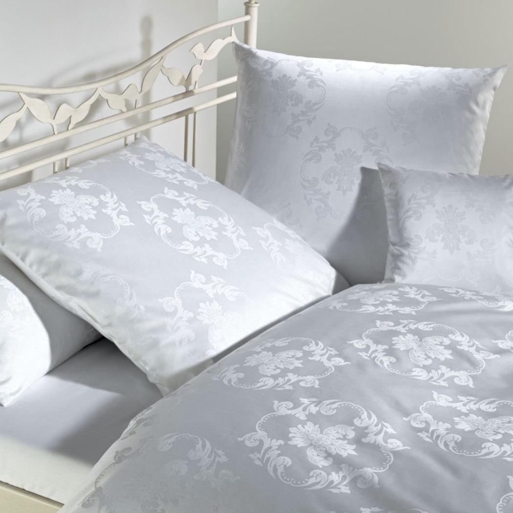 curt bauer mako brokat damast bettw sche josephine weiss g nstig online kaufen bei bettwaren shop. Black Bedroom Furniture Sets. Home Design Ideas