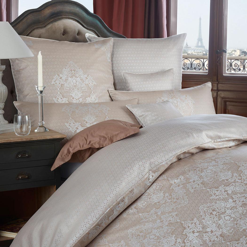 curt bauer mako brokat damast wendebettw sche juliette schoko g nstig online kaufen bei. Black Bedroom Furniture Sets. Home Design Ideas