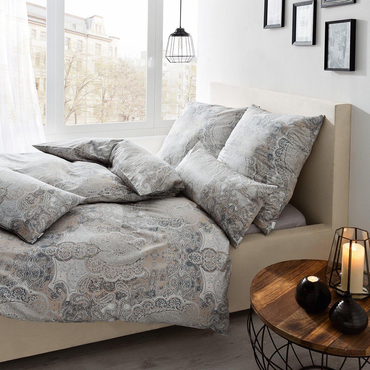 estella mako interlock jersey bettw sche 6217 340 nougat g nstig online kaufen bei bettwaren shop. Black Bedroom Furniture Sets. Home Design Ideas