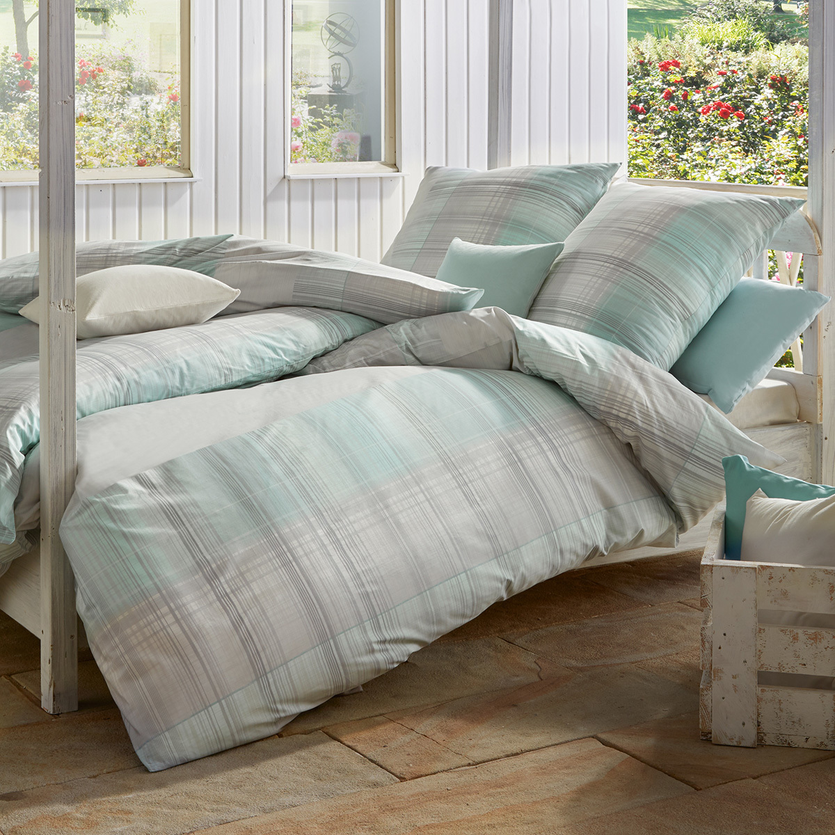 estella mako interlock jersey bettw sche 6290 560 t rkis. Black Bedroom Furniture Sets. Home Design Ideas