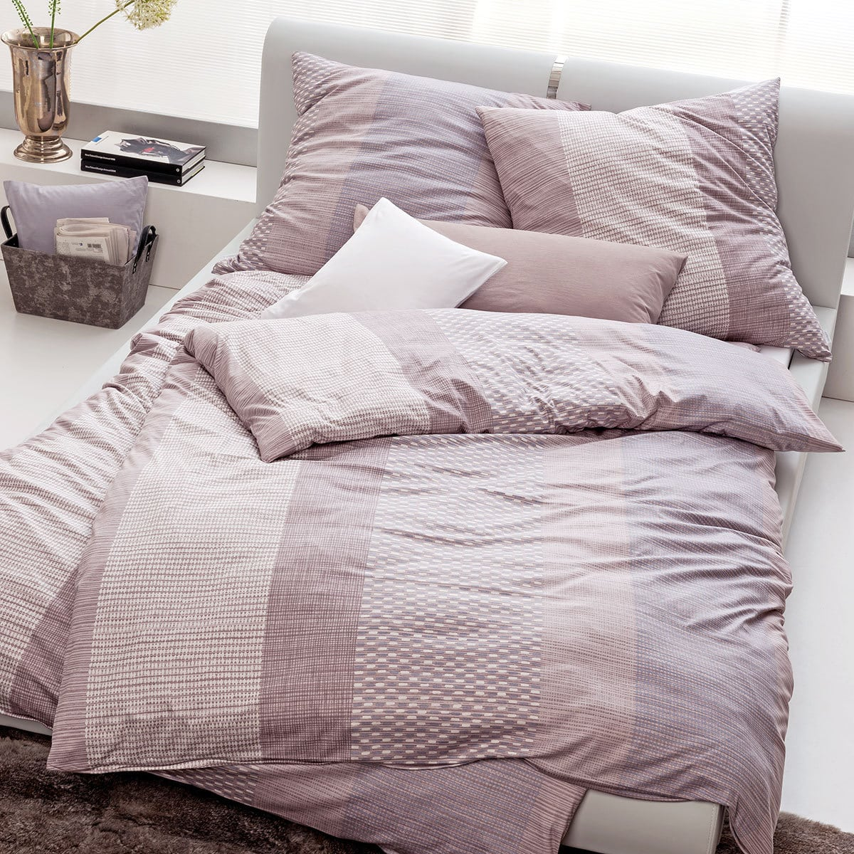 estella mako interlock jersey bettw sche jona mauve g nstig online kaufen bei bettwaren shop. Black Bedroom Furniture Sets. Home Design Ideas