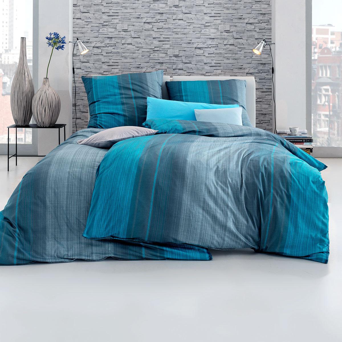 estella mako interlock jersey bettw sche luke petrol g nstig online kaufen bei bettwaren shop. Black Bedroom Furniture Sets. Home Design Ideas
