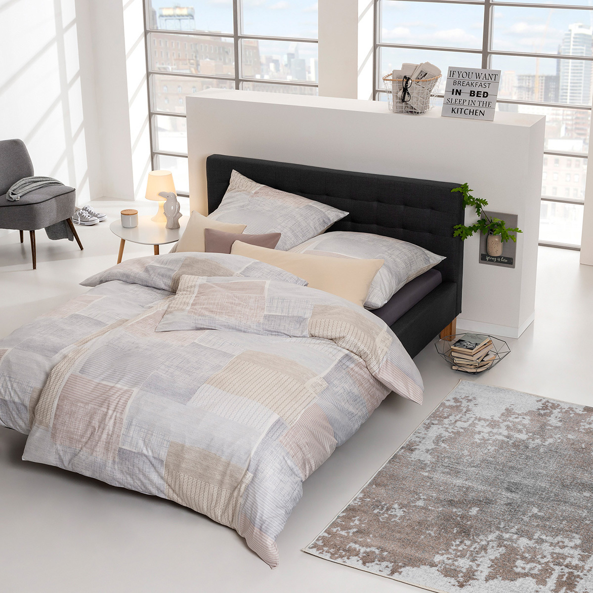 estella mako interlock jersey bettw sche milos sand g nstig online kaufen bei bettwaren shop. Black Bedroom Furniture Sets. Home Design Ideas