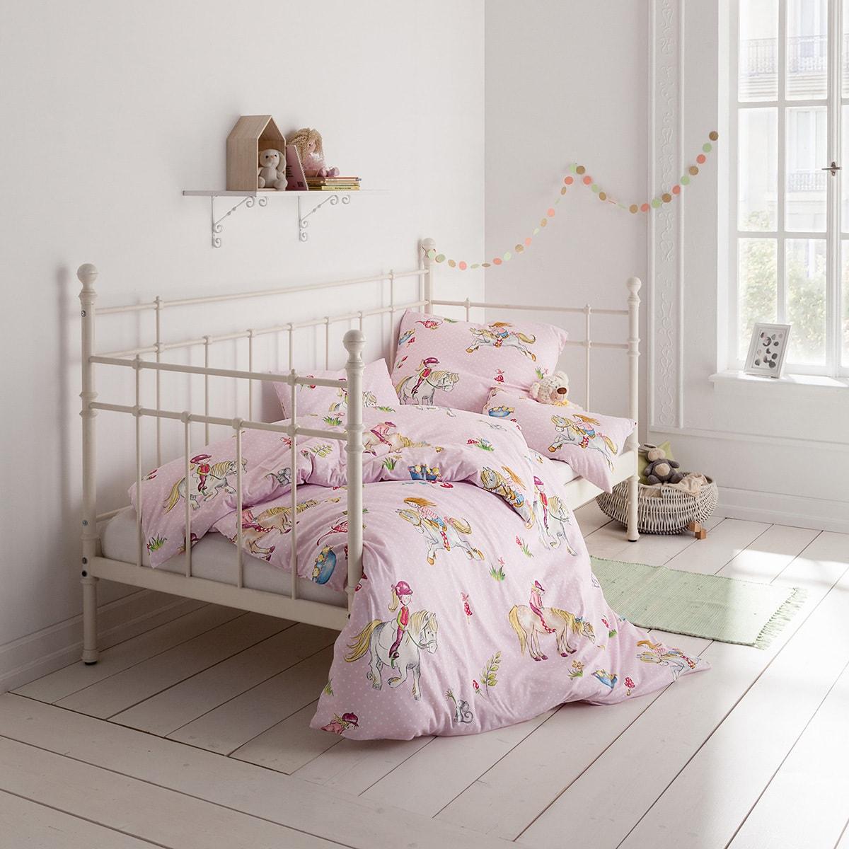 estella mako interlock jersey kinderbettw sche lena rosa g nstig online kaufen bei bettwaren shop. Black Bedroom Furniture Sets. Home Design Ideas