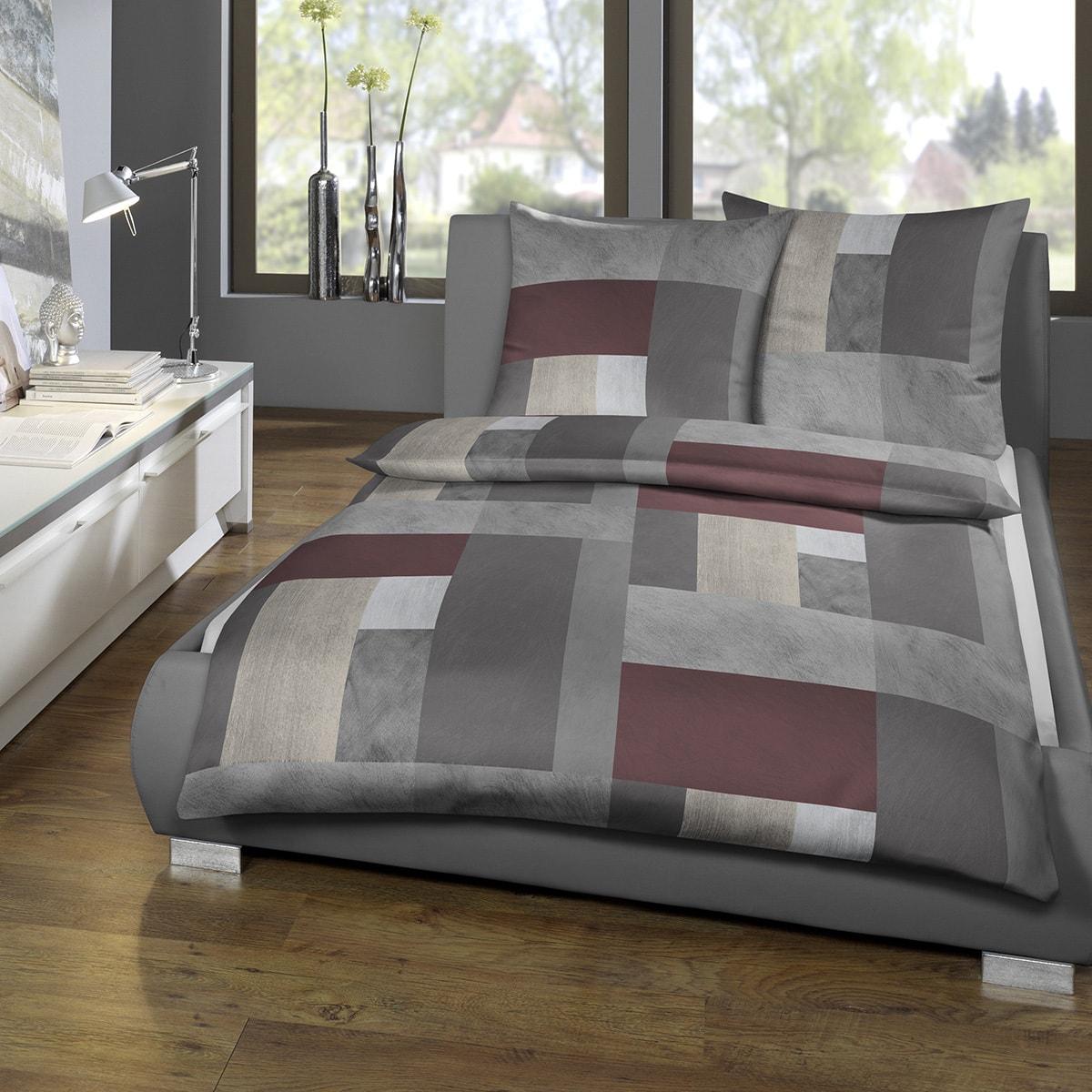estella mako satin bettw sche 7052 405 vino g nstig online kaufen bei bettwaren shop. Black Bedroom Furniture Sets. Home Design Ideas