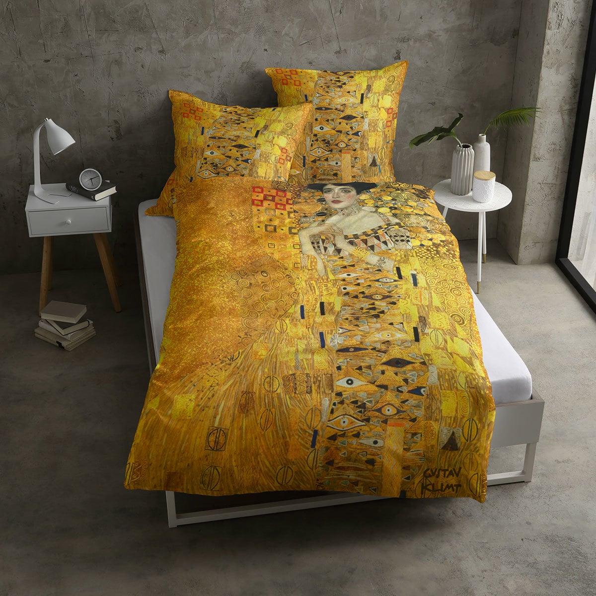 casatex mako satin bettw sche adele bloch gold g nstig. Black Bedroom Furniture Sets. Home Design Ideas