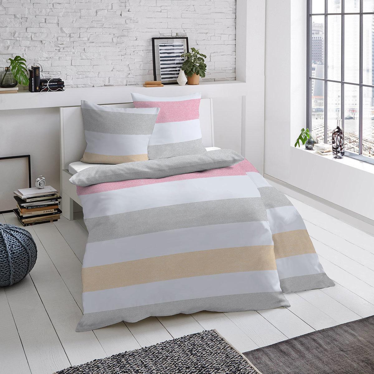dormisette mako satin bettw sche blockstreifen g nstig online kaufen bei bettwaren shop. Black Bedroom Furniture Sets. Home Design Ideas