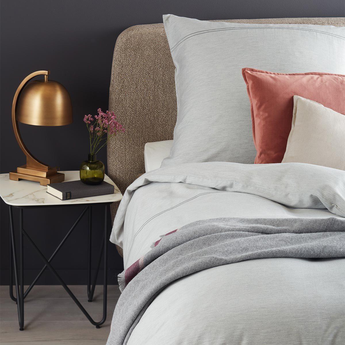 Schöner Wohnen Mako-Satin Bettwäsche Brava grau