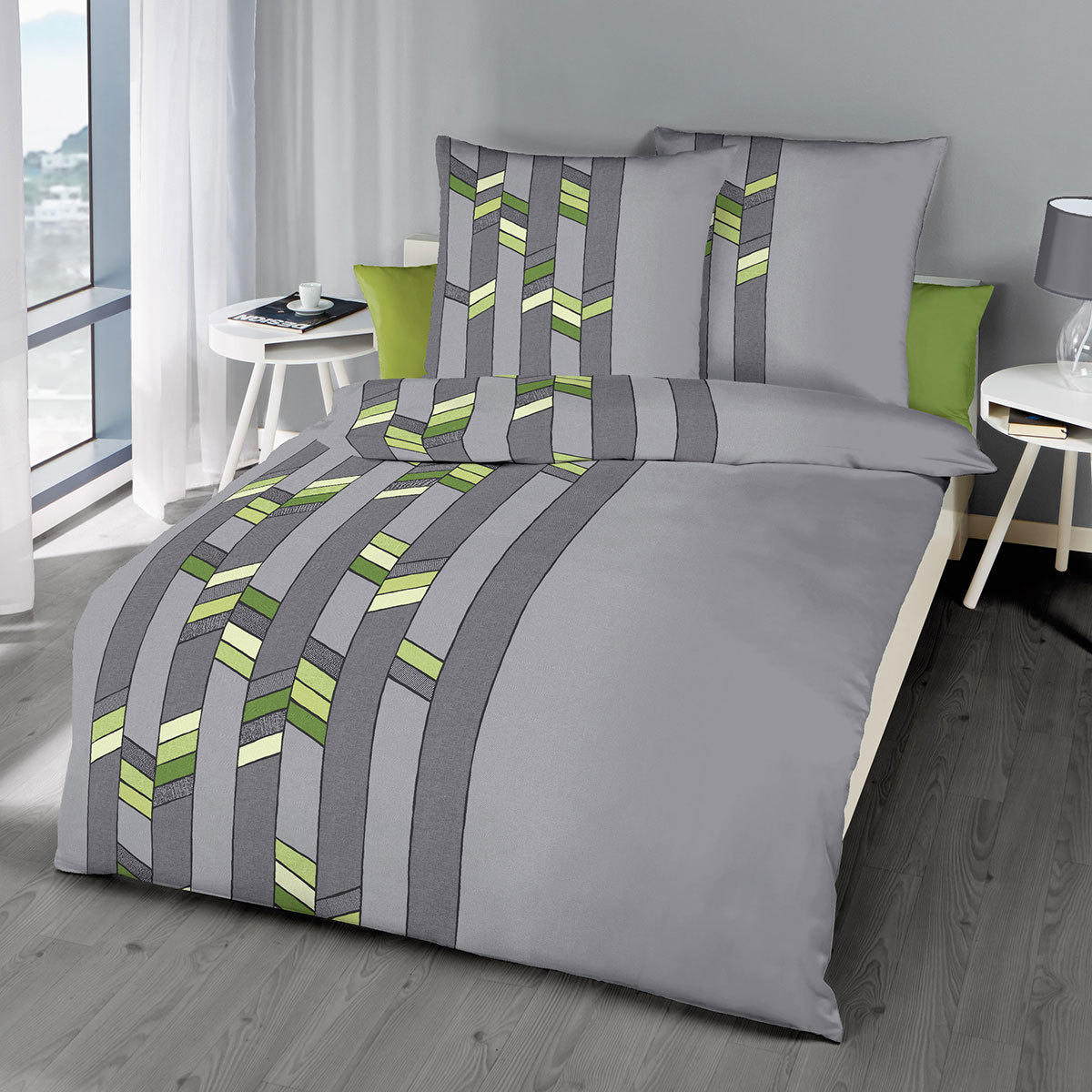 kaeppel mako satin bettw sche broken kiwi g nstig online kaufen bei bettwaren shop. Black Bedroom Furniture Sets. Home Design Ideas
