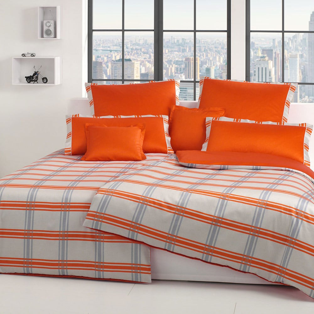 elegante mako satin bettw sche brooklyn orange g nstig online kaufen bei bettwaren shop. Black Bedroom Furniture Sets. Home Design Ideas