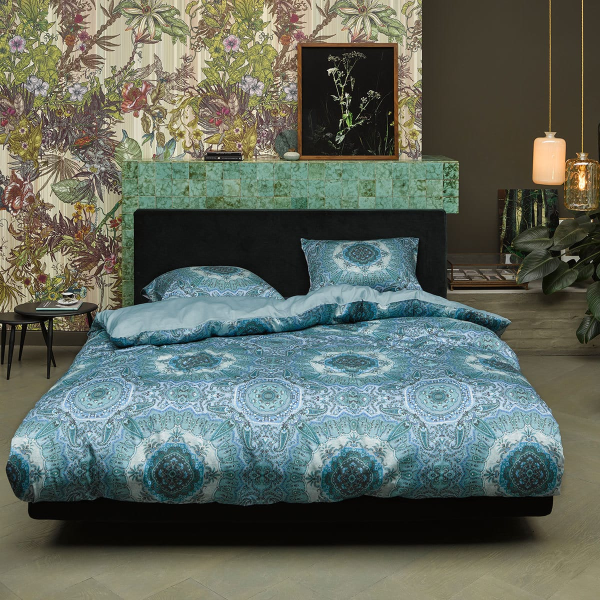 essenza mako satin bettw sche cadiz blue g nstig online kaufen bei bettwaren shop. Black Bedroom Furniture Sets. Home Design Ideas