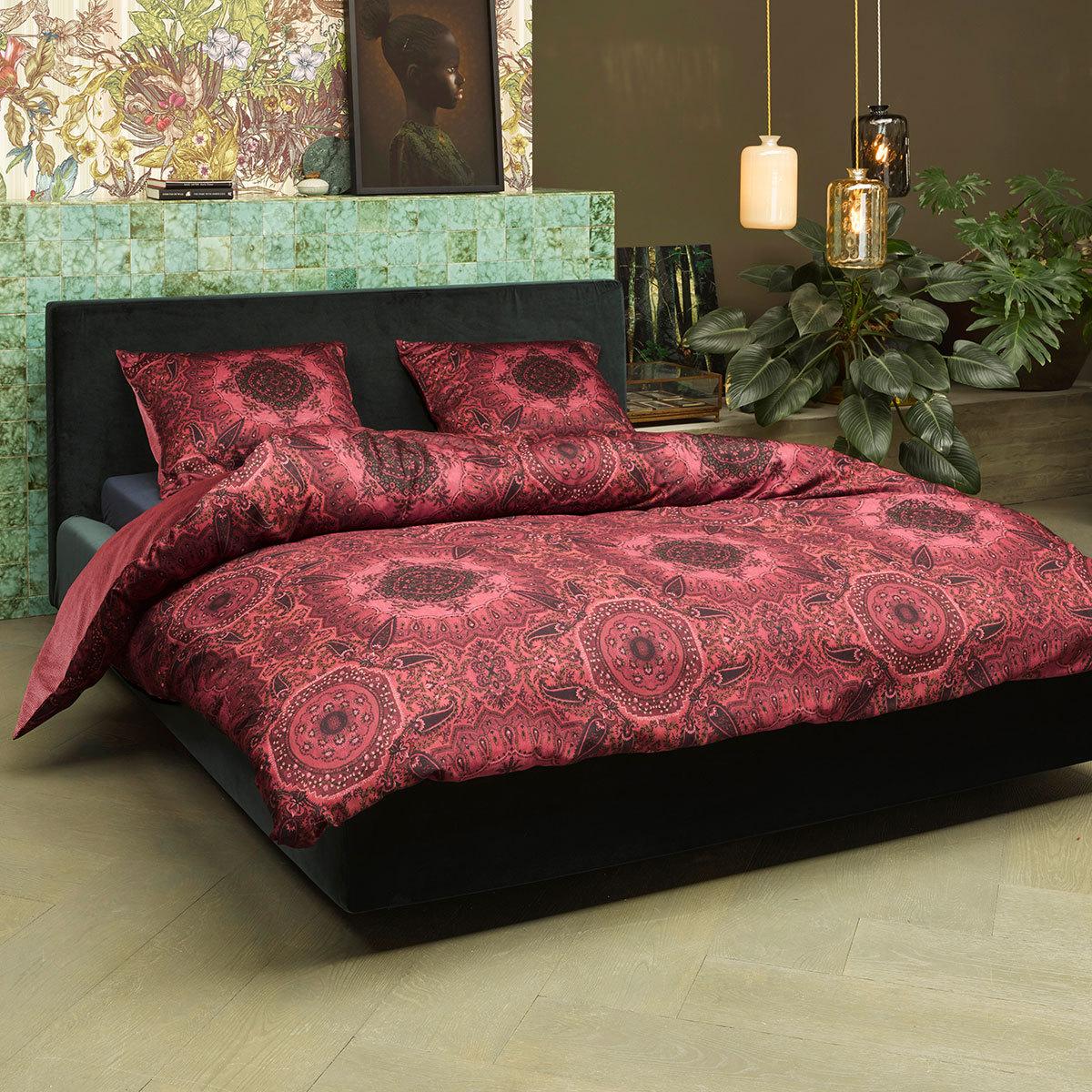 essenza mako satin bettw sche cadiz red g nstig online kaufen bei bettwaren shop. Black Bedroom Furniture Sets. Home Design Ideas