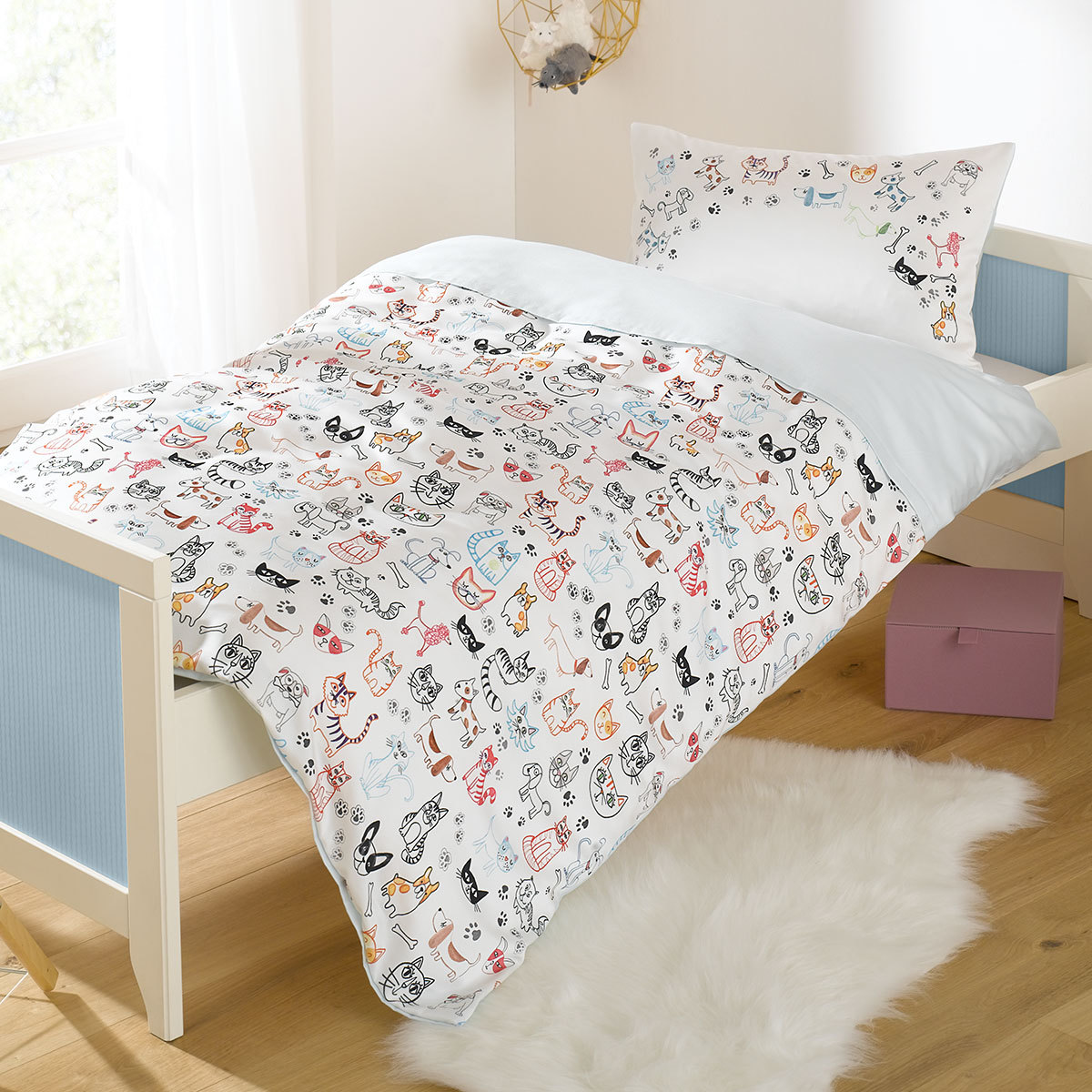 lorena mako satin bettw sche cats dogs g nstig online kaufen bei bettwaren shop. Black Bedroom Furniture Sets. Home Design Ideas