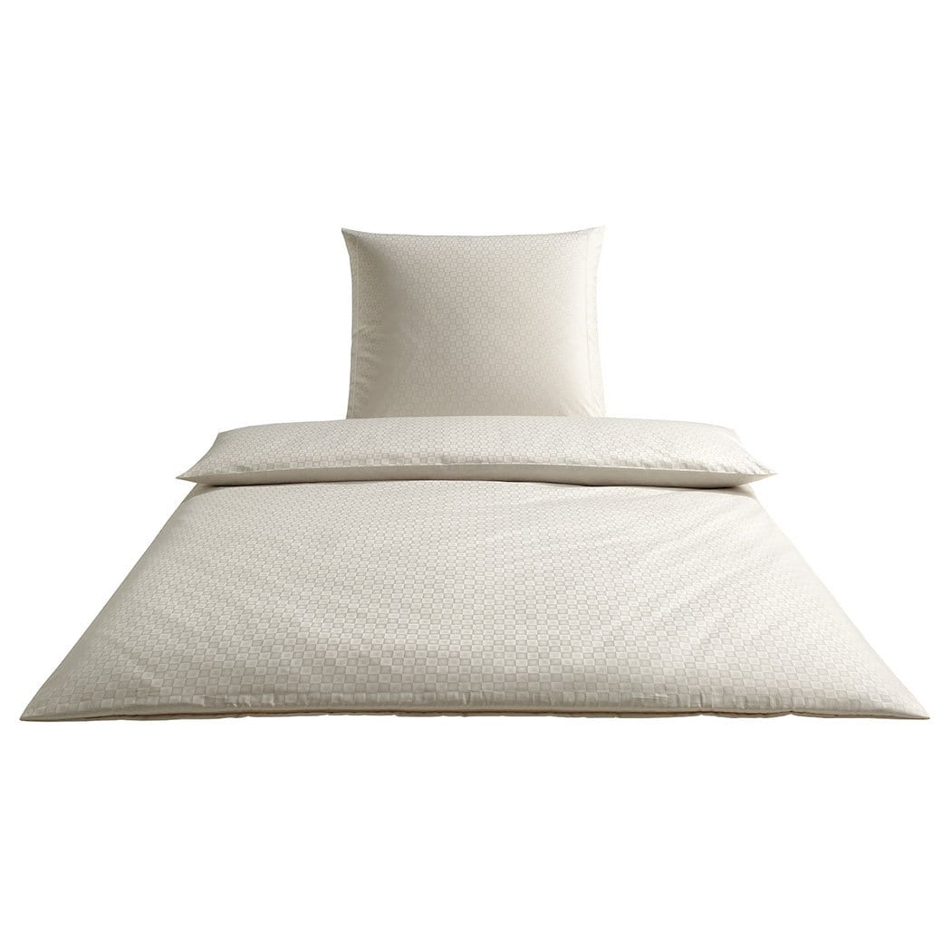 elegante mako satin bettw sche cronos creme g nstig online. Black Bedroom Furniture Sets. Home Design Ideas
