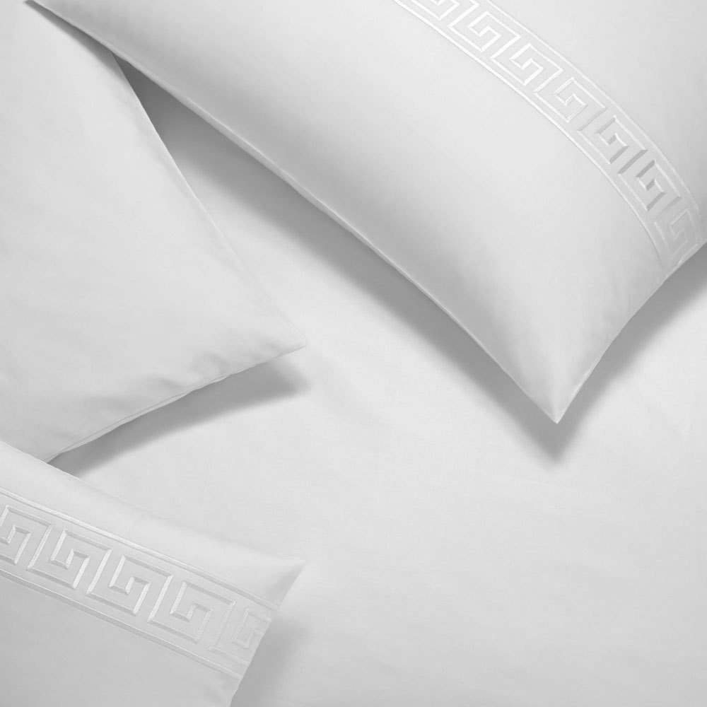 elegante mako satin bettw sche el greco wei g nstig online kaufen bei bettwaren shop. Black Bedroom Furniture Sets. Home Design Ideas