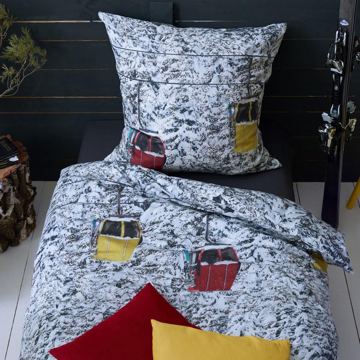 apelt mako satin bettw sche enno wei grau gelb rot g nstig online kaufen bei bettwaren shop. Black Bedroom Furniture Sets. Home Design Ideas